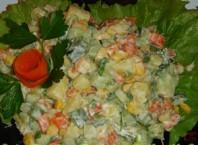 Как готовить салат «Оливье» без мяса?