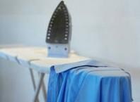 Как избавиться от блеска от утюги ткани?