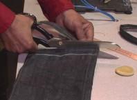Как разрезать джинси?