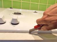 Как встроить газовую варочную панель?