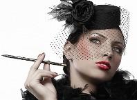 Как сделать шляпку с вуалью, украсить шляпку?